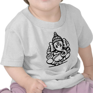 Ganesha Elephant No 4 black T-shirt