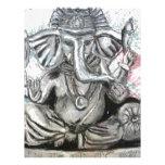Ganesha en carbón de leña membrete a diseño