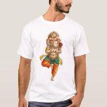 Ganesha en una actitud de la yoga de Vrksasana Playera