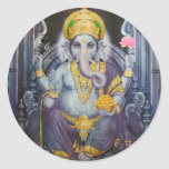 Ganesha Etiquetas Redondas