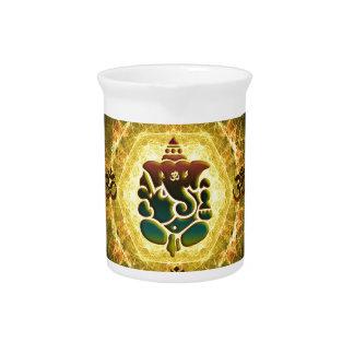 Ganesha - éxito, victoria, prosperidad, jarra de beber