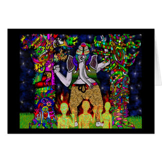 Ganesha Garden Guardians Greeting Card