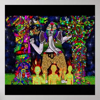Ganesha Garden Guardians Poster
