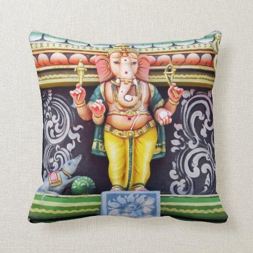 Ganesha God Statue Throw Pillows