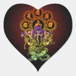 Ganesha Guitar 01 Heart Sticker