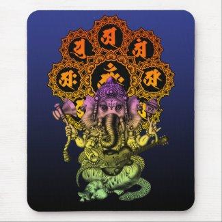 Ganesha Guitar 01 Mouse Pad