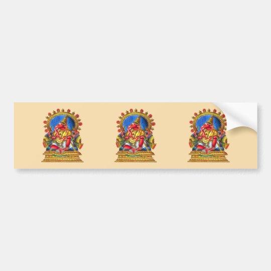 Ganesha Hindu Deity Bumper Sticker