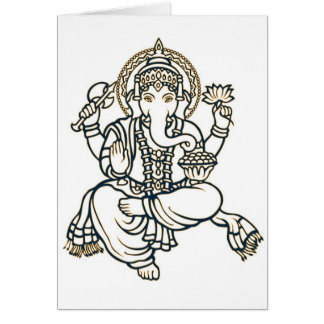 Ganesha Hindu Deity God Card