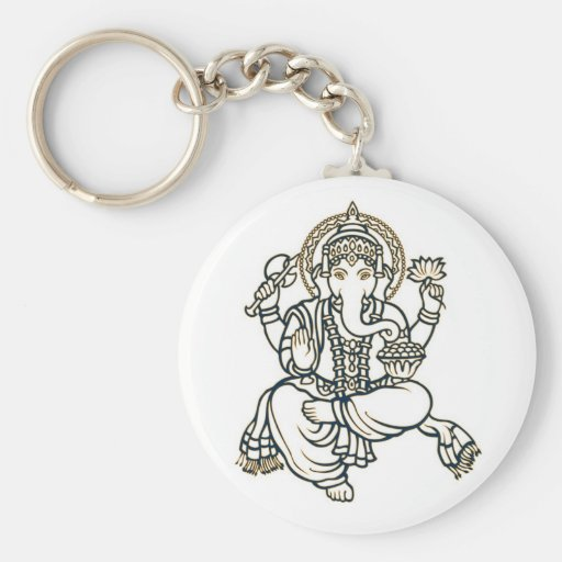 Ganesha Hindu Deity God Keychain