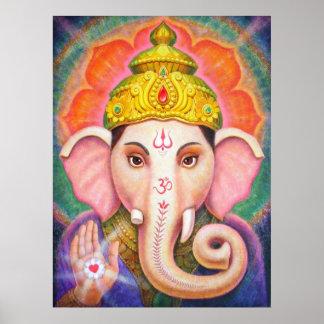 Ganesha Hindu Elephant Poster