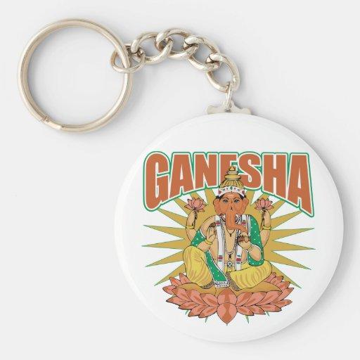 Ganesha hindú llaveros personalizados