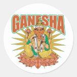 Ganesha hindú pegatinas redondas