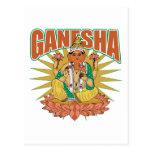 Ganesha hindú postal