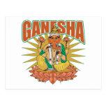 Ganesha hindú tarjeta postal