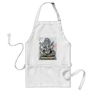 Ganesha in Charcoal Adult Apron