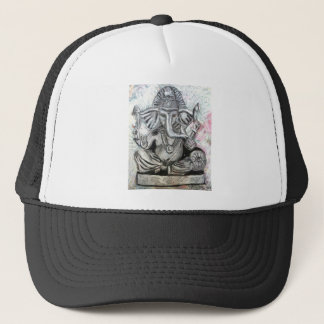 Ganesha in Charcoal Trucker Hat