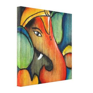 Ganesha in cool color scheme canvas print