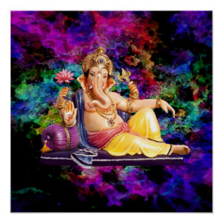 Ganesha in the Spiritual Sky Poster