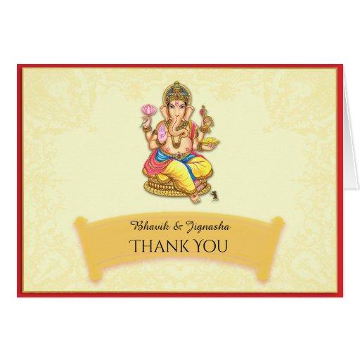 Ganesha Indian Wedding Thank You card   Zazzle