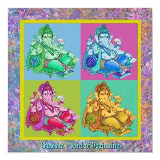 Ganesha Invitación 13,3 Cm X 13,3cm