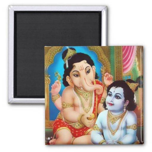 Ganesha & Kartikeya Magnet