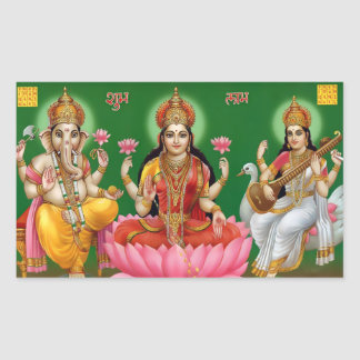 Ganesha, Lakshmi, & Saraswati Stickers