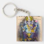 Ganesha Llavero Cuadrado Acrílico A Una Cara