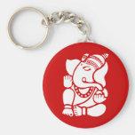 Ganesha Llavero Redondo Tipo Pin