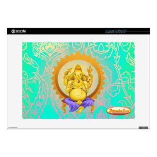 Ganesha Lord of Beginnings, Laptop skin green bg