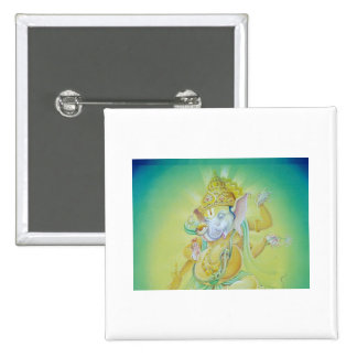 Ganesha Luv 2 Inch Square Button