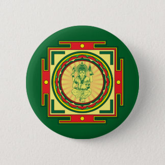 Ganesha Mandala Badge Pinback Button