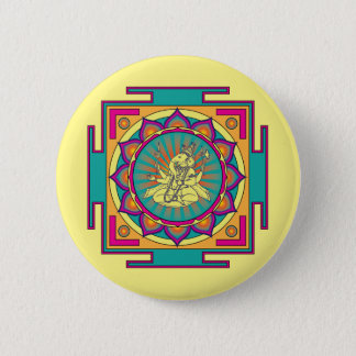Ganesha Mandala Button
