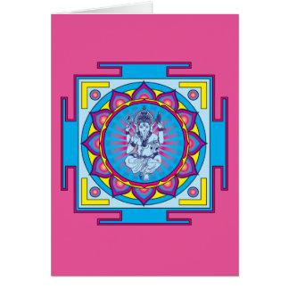 Ganesha Mandala Card