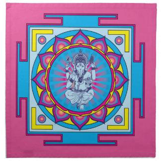 Ganesha Mandala Cloth Napkin