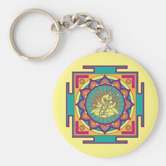 Ganesha Mandala Keychain