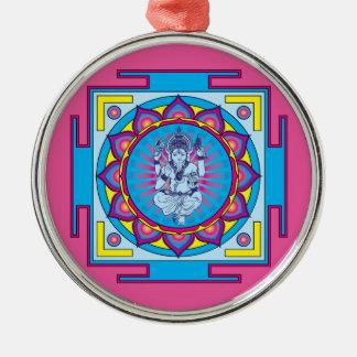 Ganesha Mandala Metal Ornament