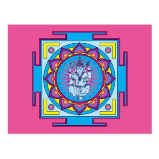 Ganesha Mandala Postcard