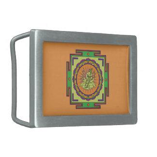 Ganesha Mandala Rectangular Belt Buckle
