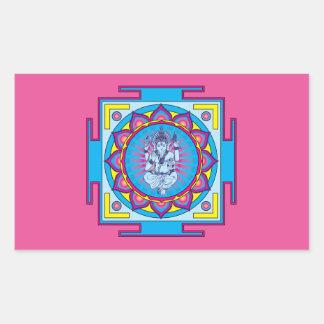 Ganesha Mandala Rectangular Sticker