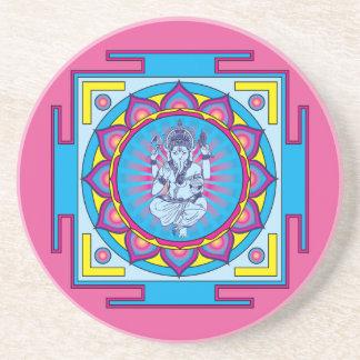 Ganesha Mandala Sandstone Coaster