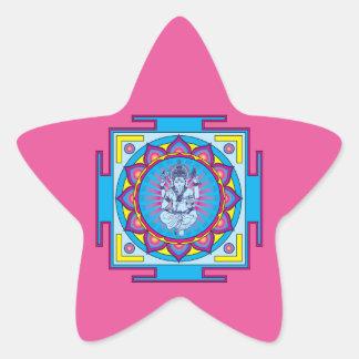 Ganesha Mandala Star Sticker