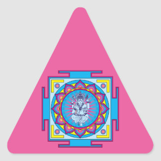 Ganesha Mandala Triangle Sticker