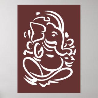 Ganesha - muestra hindú de dios póster