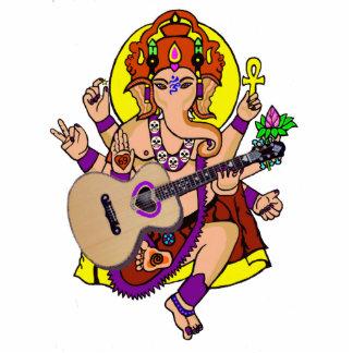 Ganesha Musician sculpture Photo Cut Out