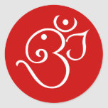 Ganesha OM diseña diseño Pegatina Redonda