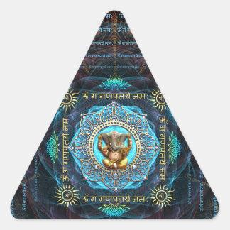 Ganesha- OM Gam Ganapataye Namah Pegatina Triangular