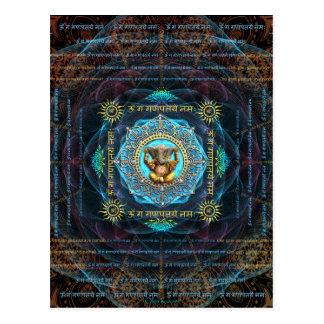Ganesha- Om Gam Ganapataye Namah Postcard