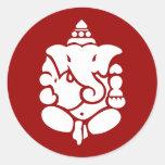 Ganesha Pegatinas Redondas