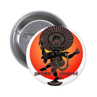 Ganesha Powered 2 Inch Round Button