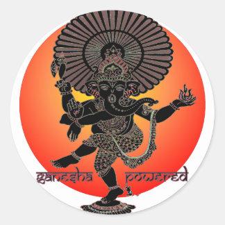 Ganesha Powered Classic Round Sticker